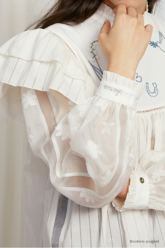 The Grigri blouse (ecru and...